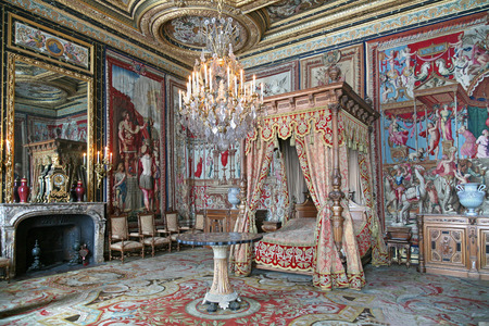 Royal bed chamber, Palace of Fontainebleau, France, 2009