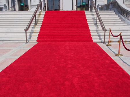 steps with red carpet photo