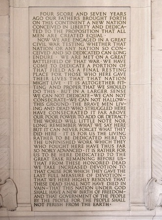 Gettysburg Address, Abraham Lincoln Memorial, Washington, 2014