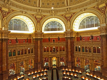 reading room: Library of Congress reading room, Washington, 2014 Editorial
