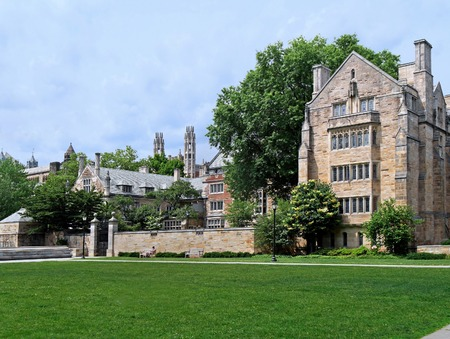 gothic revival: Yale University campus, gothic revival architecture, June 2015