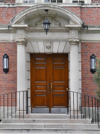 classical style: double front door with classical style entrance