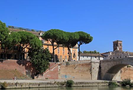 embankment: Rome, Tiber River embankment