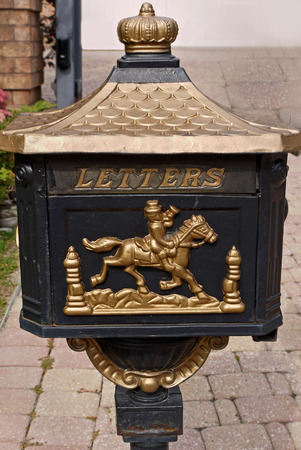 letter box: old fashioned letter box