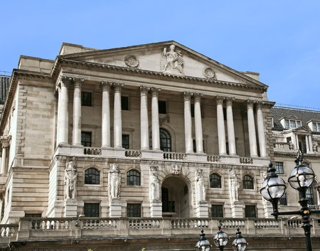 building exteriors: Headquarters of the Bank of England, London