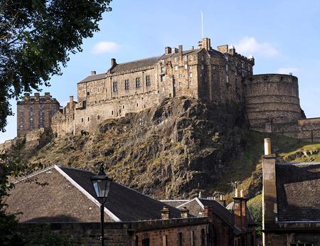viewed: Edinburgh Castle viewed from Grassmarket Editorial