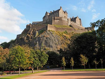 viewed: Edinburgh Castle viewed from Princes Street Gardens Editorial