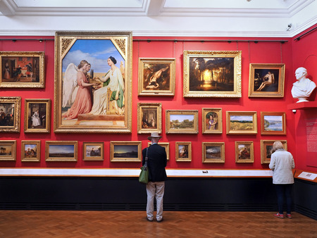 paintings: art gallery with Victorian paintings