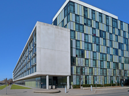 building exteriors: university campus with modern buildings