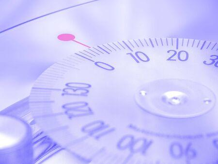 kilo: Glass bath scales Stock Photo
