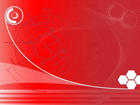 futuristic techno background  Illustration