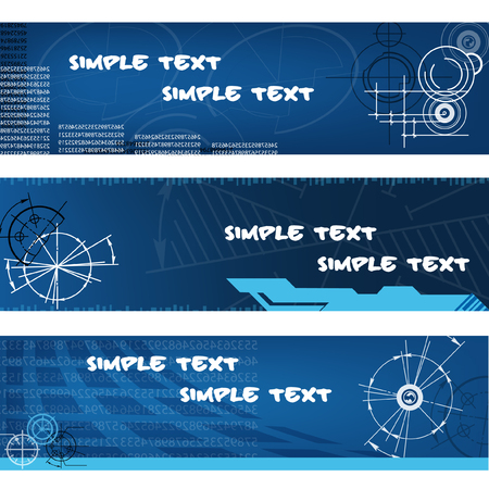 abstract techno banners Vector