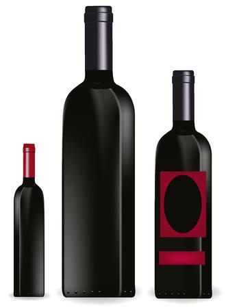 black bottles of vine Stock Vector - 8557342