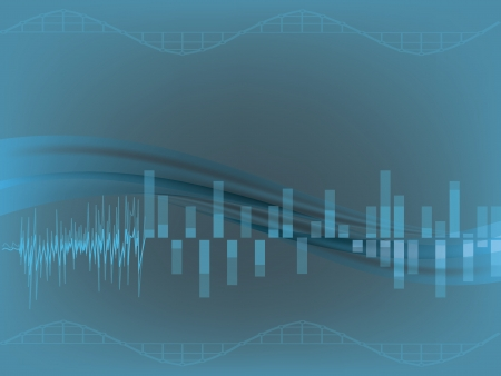 music techno background  illustration