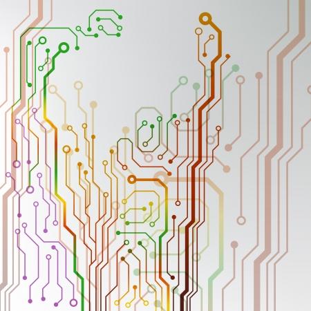 回路基板の背景 eps10 ベクトル図  イラスト・ベクター素材