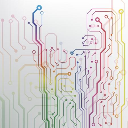Fondo de la tarjeta de circuito eps10 vector