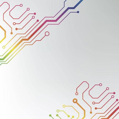 Fondo de la tarjeta de circuito eps10 vector Ilustración de vector