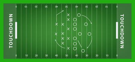 Campo de fútbol. ilustración vectorial Foto de archivo - 44584795