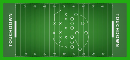 football play: Soccer field. vector illustration