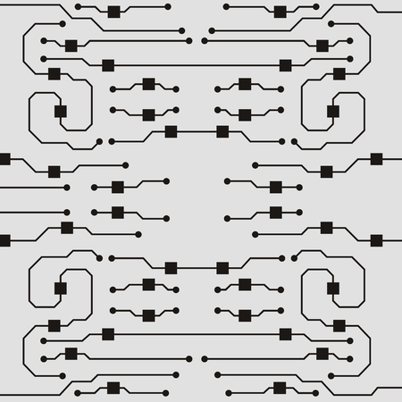 Vector circuit board illustration. Abstract circuit board background