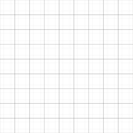 Fondo senza cuciture semplice della carta millimetrata di vettore. Illustrazione di carta cianografia astratta