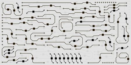 Abstract circuit board background Vecteurs