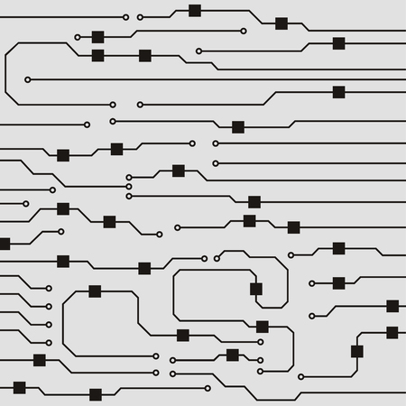 Vector circuit board background. Abstract flat circuit board illustration Standard-Bild - 122628865