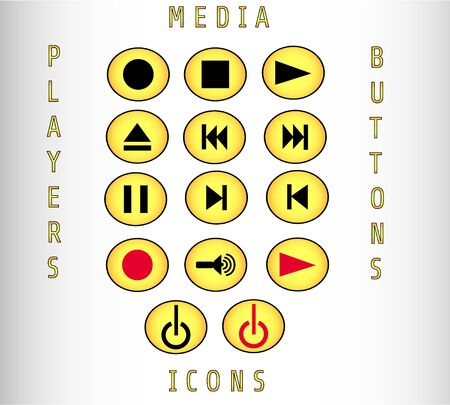 cd recorder: Media icon and players buttons