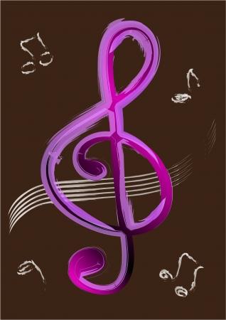 treble clef: Treble clef Illustration