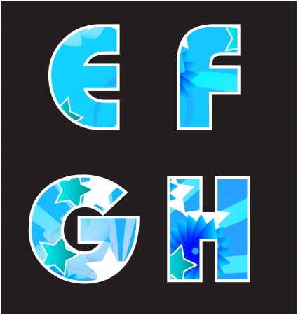 Abstract blue alphabet