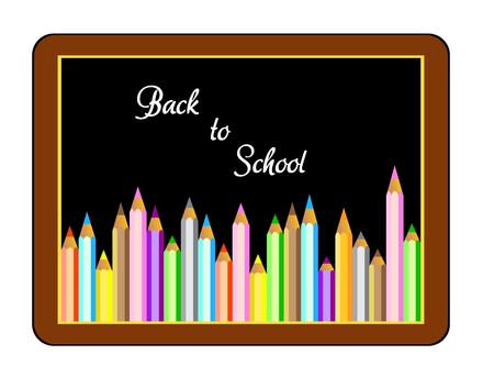 first grader: Back to school, Boards with crayons