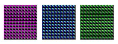 Triangle in square mosaic pattern
