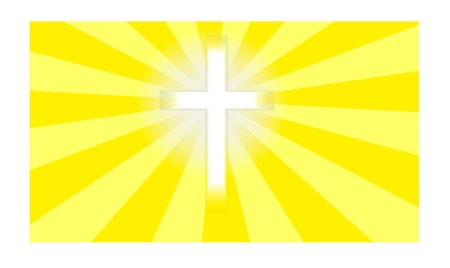 Crucifix in sunlight  Stock Vector - 17041321
