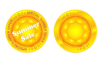 Summer sale button special offer Stock Vector - 17041330
