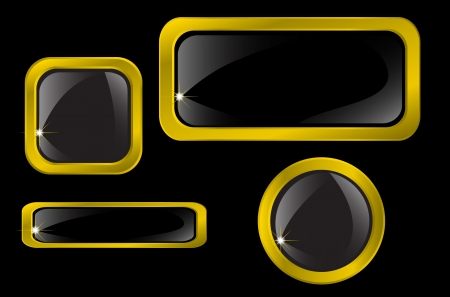 Set of gold icons