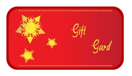 Gift card with stars