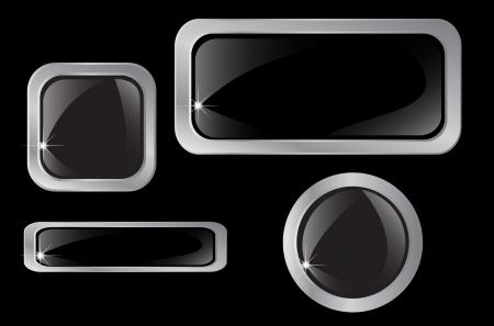 Set van zilveren iconen