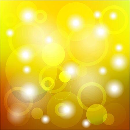 Oro abstracto, fondo amarillo con la luz brillante y el c�rculo Vectores