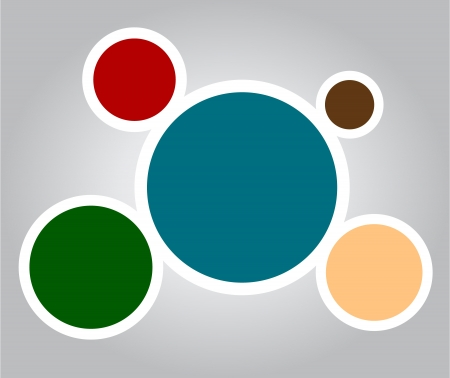 Retro vintage colorful web design bubbles with place for your text  Illustration