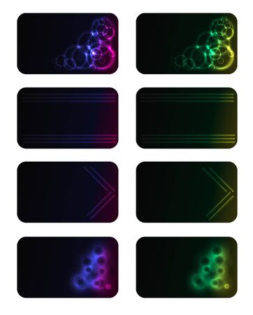 Abstract business neon card  Vector