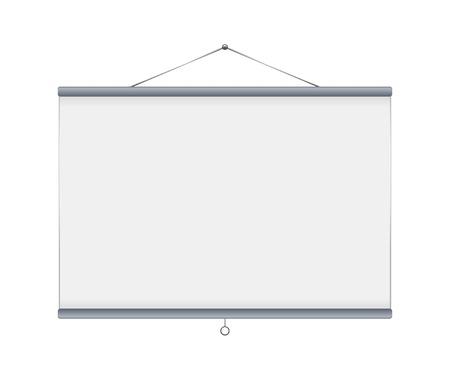Grey blank projector screen Vector Vector