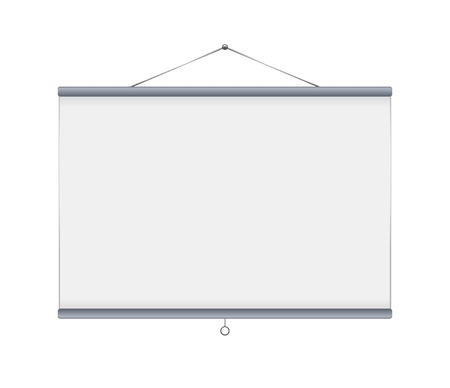 Grey blank projector screen Vector Illustration