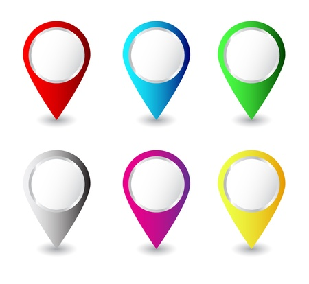Colorful pins Vector Vector