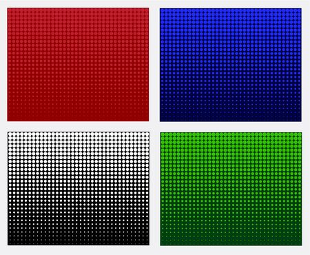 Halftone background Vector set