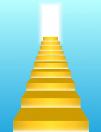 Gold stairs to heaven Vector  Vector