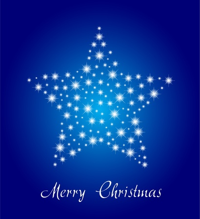 Merry Christmas Star From Light Star Vector Royalty Free Cliparts ...