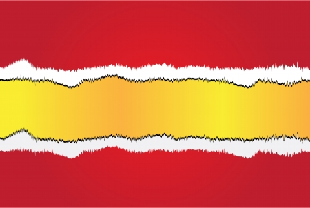 Red banner with gold ripped Vector Vector