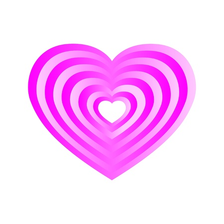 Pink layered heart