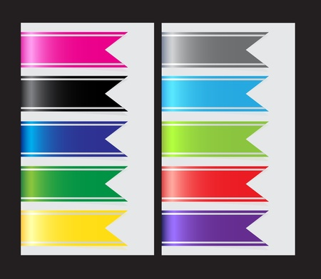 Set of ribbons    Stock Vector - 17266217
