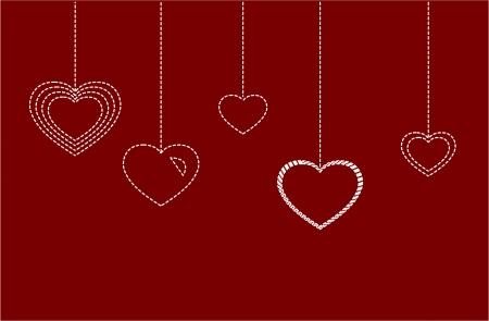 seam: Heart from seam card